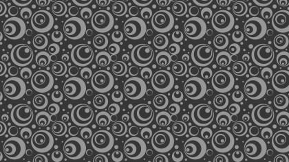 Dark Grey Seamless Geometric Circle Pattern Vector Image