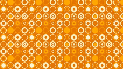 Orange Seamless Geometric Circle Pattern
