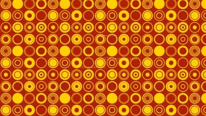 Orange Seamless Circle Pattern Background Vector Art