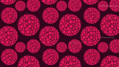 Pink Dotted Circles Pattern Background