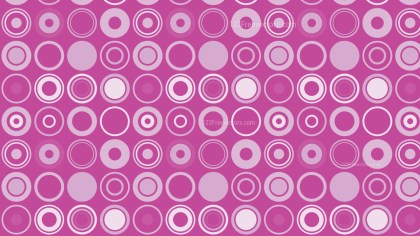 Pink Circle Pattern Background Vector Illustration