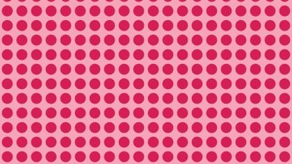 Pink Seamless Circle Pattern Illustrator