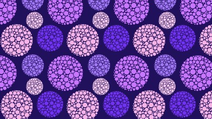 Purple Seamless Dotted Circles Pattern Background Vector Art