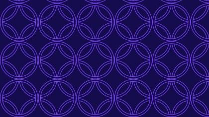 Indigo Overlapping Circles Background Pattern
