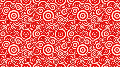 Red Seamless Overlapping Concentric Circles Pattern Background