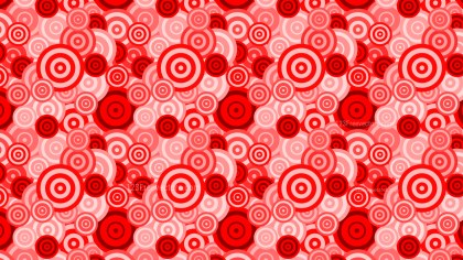 Red Seamless Overlapping Concentric Circles Background Pattern