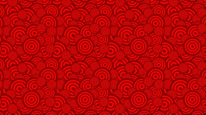 Red Seamless Geometric Overlapping Concentric Circles Pattern Graphic