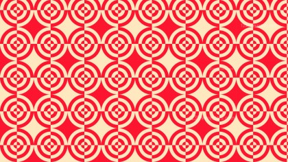 Red Seamless Quarter Circles Pattern Background Graphic