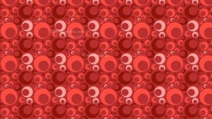 Red Seamless Circle Background Pattern Design