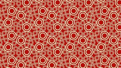 Red Seamless Geometric Circle Pattern Vector Illustration
