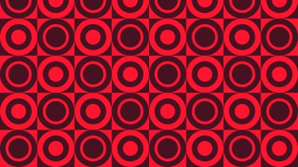 Dark Red Seamless Geometric Circle Pattern Background Design