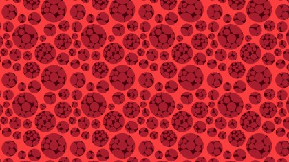 Red Seamless Dotted Circles Pattern