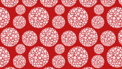 Red Seamless Geometric Dotted Circles Pattern Vector
