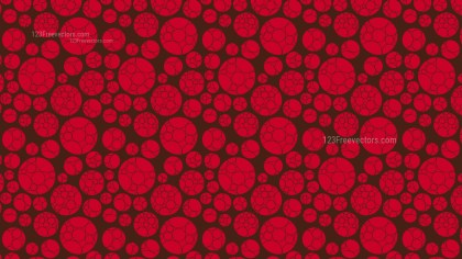Dark Red Circle Pattern Design