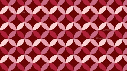 Dark Red Seamless Intersecting Circles Background Pattern