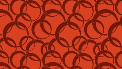 Red Geometry Overlapping Circles Pattern Vector