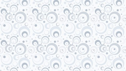 White Seamless Circle Pattern Background Vector Image