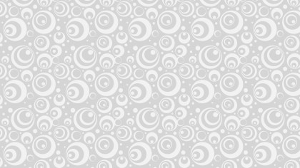 White Seamless Circle Background Pattern Illustrator