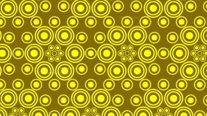 Yellow Geometric Circle Pattern Background