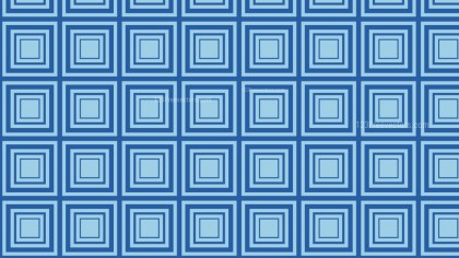 Blue Concentric Squares Pattern Background