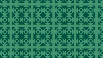 Dark Green Seamless Geometric Square Pattern
