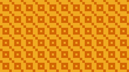 Amber Color Seamless Geometric Square Pattern Background Vector Graphic