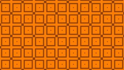 Orange Seamless Square Pattern Vector Graphic