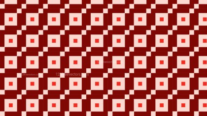 Red Seamless Geometric Square Pattern Illustration
