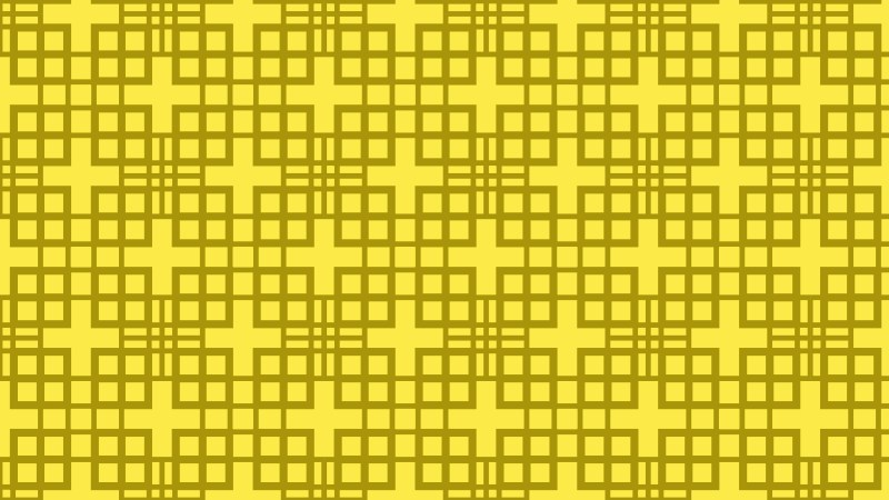 Yellow Seamless Geometric Square Pattern Vector Image