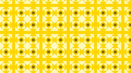 Yellow Seamless Geometric Square Background Pattern Vector Illustration