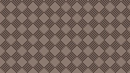 Dark Brown Seamless Geometric Stripes Pattern