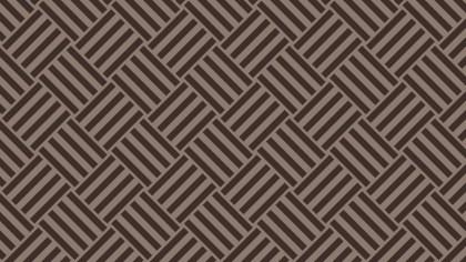 Dark Brown Seamless Geometric Stripes Pattern Vector Art