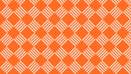 Orange Striped Geometric Pattern