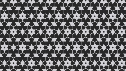 Black and Grey Seamless Star Pattern Background Vector