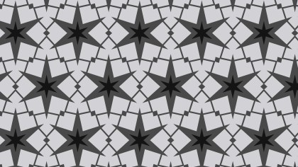 Black and Grey Seamless Stars Background Pattern Vector Image