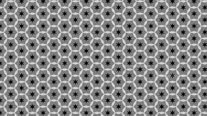 Black and Grey Stars Pattern
