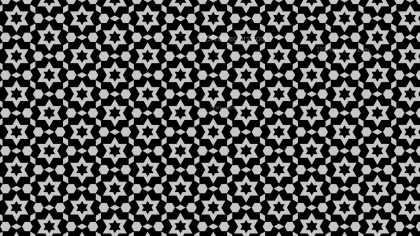 Black and Grey Star Background Pattern Vector Graphic
