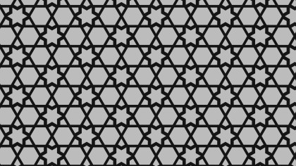 Black and Grey Stars Pattern Background Vector Art