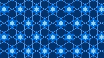 Navy Blue Seamless Stars Background Pattern