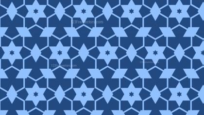 Blue Stars Background Pattern