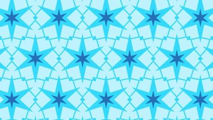 Blue Seamless Star Background Pattern