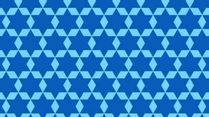 Blue Seamless Star Pattern