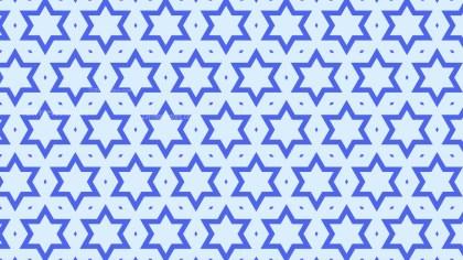 Light Blue Seamless Star Pattern Background Design