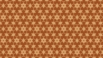 Brown Star Background Pattern Illustrator
