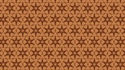 Brown Star Background Pattern Graphic