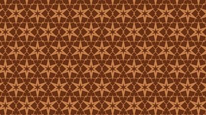 Brown Seamless Star Pattern Illustration