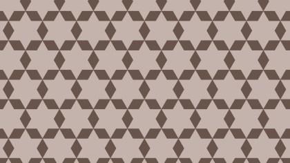 Brown Seamless Stars Pattern Background