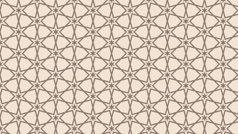 Light Brown Seamless Star Background Pattern