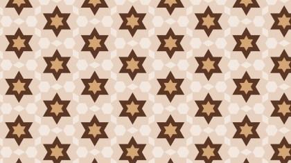 Brown Stars Background Pattern Vector
