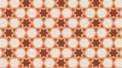 Brown Seamless Star Pattern Background